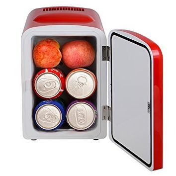 TMS® Retro Portable Mini Beverage Personal Fridge Cooler & Warmer Car Boat Home AC/DC