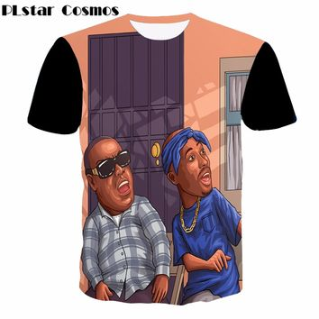 Hip Hop 3D T-Shirt Rappers Tupac and Biggie Graphic Print Top