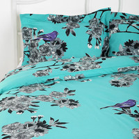 Urban Outfitters - Plum & Bow Bird Blossom Duvet Cover