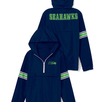 Seattle Seahawks Half-Zip Windbreaker - PINK - Victoria's Secret