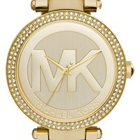 Women's Michael Kors 'Parker' Logo Dial Bracelet Watch, 39mm