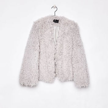 Faux fur jacket - Coats - Bershka United States