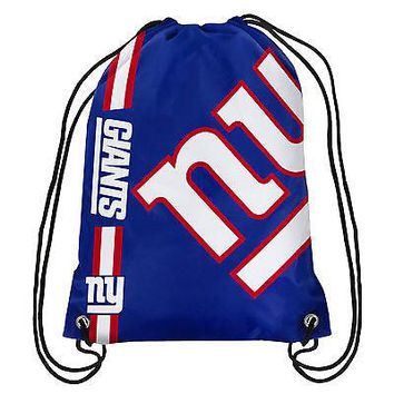 2017 New Fashion New York Giants Drawstring Backpack Digital Printing Knitted Polyester Sports Backpack