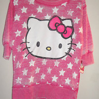 Hello Kitty Girls Top Pink  Size S 8 or M 10-12  NWT
