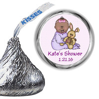 Baby Girl Shower Hershey Kiss Stickers