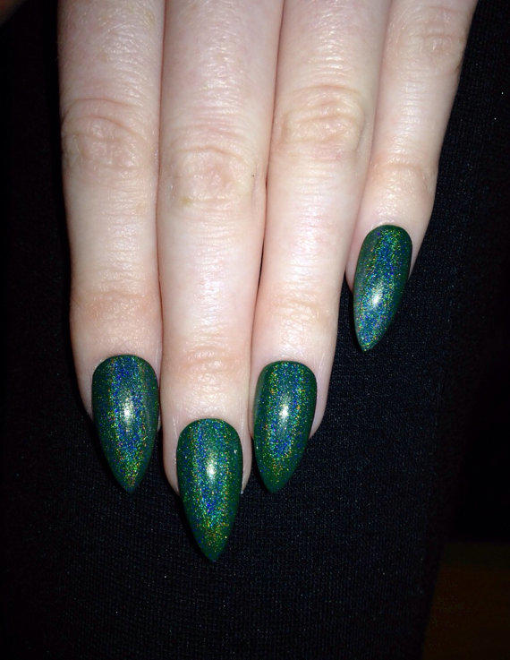 Holographic Nails: Holographic Stiletto Nails, Nail Designs, From