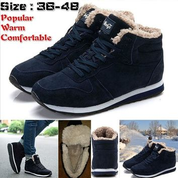 Fashion Men Women Winter Snow Boots Keep Warm Boots Plush Ankle Boot Snow Work Shoes Men's Women's Outdoor Snow Boots 36-48