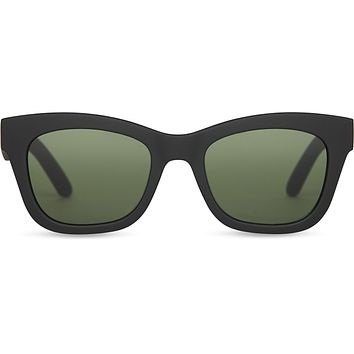 TOMS - TRAVELER Paloma Matte Black Sunglasses / Bottle Green Lenses