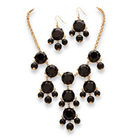 PalmBeach Black or Aqua Bubble Jewelry Set | Overstock.com Shopping - The Best Deals on Jewelry Sets