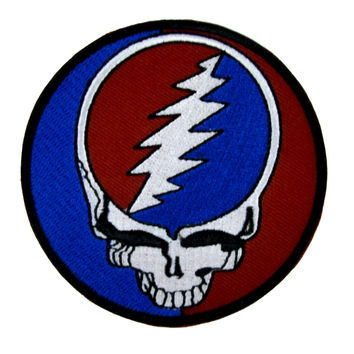 Grateful Dead Skull Patch Iron On Applique Alternative Clothing Jerry Garcia