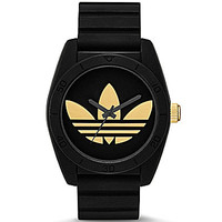 Adidas Performance Santiago Black & Gold Analog Watch - Black