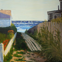 Provincetown Landscape Painting - Path From Commercial Street