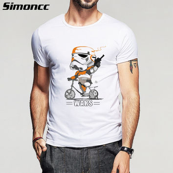 2016 New Fashion Summer design funny t shirt homme STAR WARS print Darth Vader mens t shirt for man plus size S-5XL
