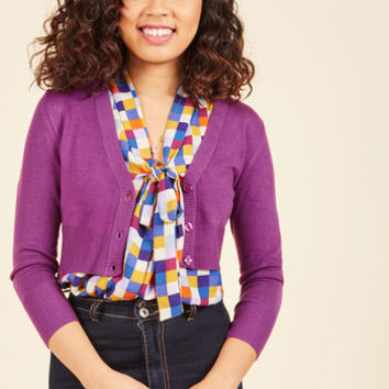 The Dream of the Crop Cardigan in Violet | Mod Retro Vintage Sweaters | ModCloth.com