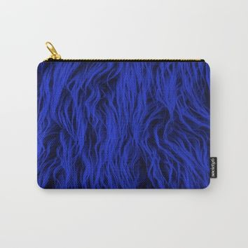 Blue Wooly Carpet Carry-All Pouch by Azima
