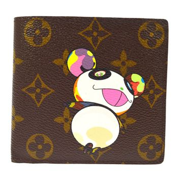 AUTHENTIC LOUIS VUITTON MONOGRAM PANDA TAKASHI MURAKAMI WALLET M61666 AK21956