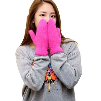 2017 Women Fashion Knitted Arm Fingerless Winter Gloves Soft Warm Mitten   Y82923