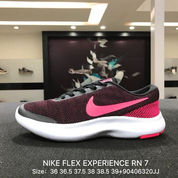 Nike Flex Experience RN 7 Men Black Pink Sports Running Shoes - 908996-006