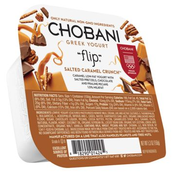 "Chobani ""Flip"" Salted Caramel Crunch Low-Fat Greek Yogurt, 5.3 oz"