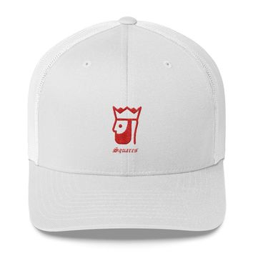 Trucker hat Red king with crown
