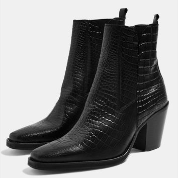 Mason Crocodile Effect Chelsea Boots - Boots - Shoes