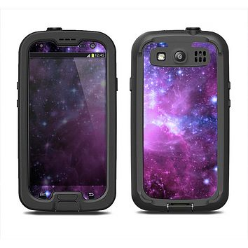 The Violet Glowing Nebula Samsung Galaxy S3 LifeProof Fre Case Skin Set