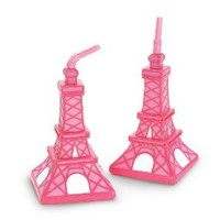 Pink Eiffel Tower Cups (8 count) Party Accessory