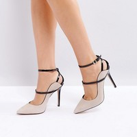 Reiss Suede Ankle Strap Court Shoe at asos.com