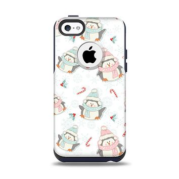 The Christmas Suited Fat Penguins Apple iPhone 5c Otterbox Commuter Case Skin Set