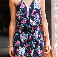 Cupshe Glamorous One Stop Floral Halter Romper