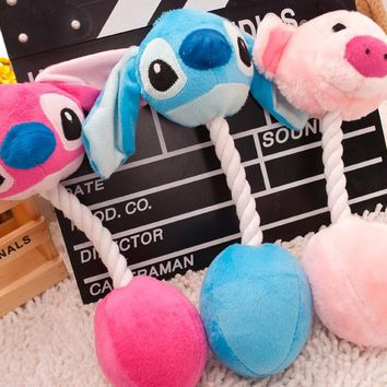 New Arrival 4 styles Cartoon Pet Products Plush Toys Dog Toys Pet Cats Cute Biting Rope Sound Toys 31CM