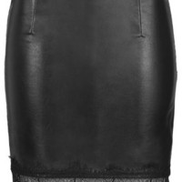 **Faux Leather Skirt by Goldie - Skirts - Clothing