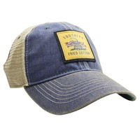Don't Tread On Me Trucker Hat in Blue by Southern Fried Cotton