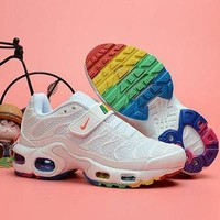 Nike Air Max Plus TN Kid Velcro Sports Fashion Air Cushion Damping Running Shoes