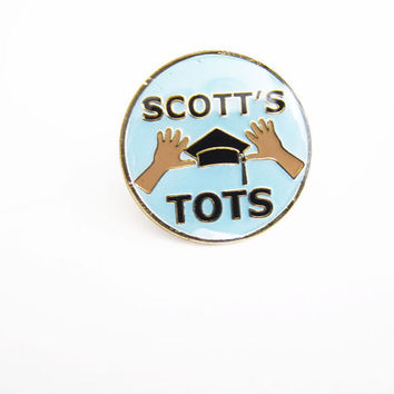 The Office Pin / Michael Scott Pin / Scott's Tots / The Office Enamel Lapel Pin
