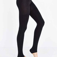 Fleece-Lined Footless Tight- Black Multi