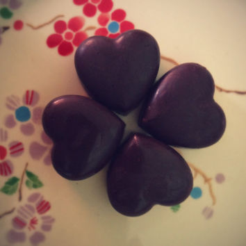 Raw Chocolate  - Vegan, Organic, hearts x 4 sugar free, gluten free
