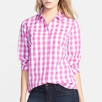 Women's Vineyard Vines Oversize Gingham Check Shirt,