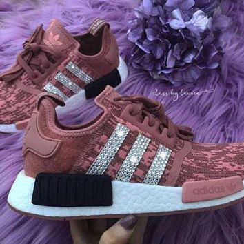 Adidas NMD individuality Sequins Trending Fashion Casual Women Leisure Running Sports Shoes Pink G
