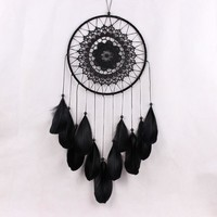 White  Decoration Crafts Dreamcatcher Wind Chimes Handmade Dream Catcher with Feathers Wall Hanging