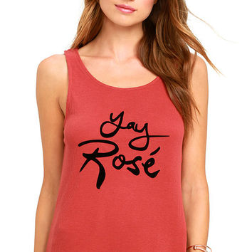 Mink Pink Yay Rose Marsala Tank Top