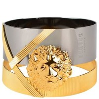 X Anthony Vaccarello Lion Head Dual Band Bracelet