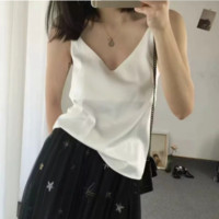 Summer loose outer wear inside silk soles slim satin small sling