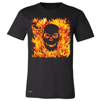 Zexpa Apparel™ Fire Skull Men's T-shirt Dia de Muertos Ghost Rider Biker Cool Tee
