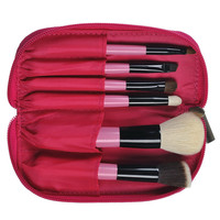 Red Zippers Portable Hot Sale Makeup Brush Sets [6532443335]
