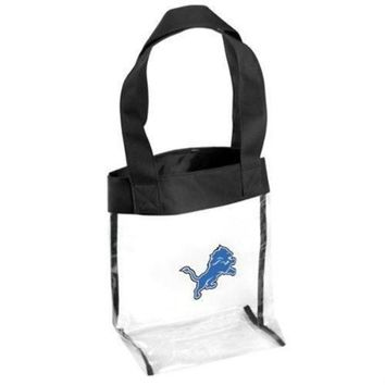 LMFON NFL Detroit Lions Clear Tote Bag