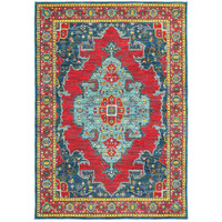 Oriental Weavers Joli 1331S Blue/ Red Oriental Area Rug