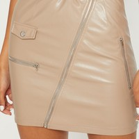 Stone Biker Belted Mini Skirt