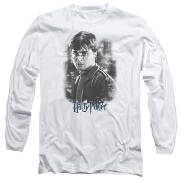 Harry Potter - Harry In The Woods Long Sleeve Adult 18/1 Officially Licensed Shirt