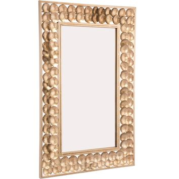 Gold Mini Circles Wall Mirror